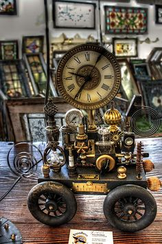 * Steampunk Clock ~originally uploaded by brockney52 *  http://steampunkincornwall.blogspot.co.uk/