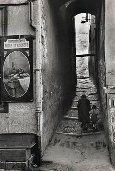 """Briançon, France, 1952 Photo: Henri Cartier-Bresson-- one of my favorite photographers. His theory of the """"decisive moment"""" really left an impression on me. His photography is 'eloquent.'"""