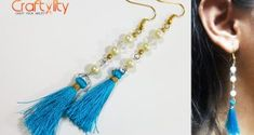 DIY Pearl Tassel Earrings