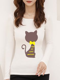 Round Neck Printed Long Sleeve Knit Pullover – wanokitty pullover outfit jeans athletic pullover with jeans athletic pullover hoodie Outfit Jeans, Sweater Outfits, Comfortable Outfits, Jean Outfits, Gender Female, Sleeve Styles, Pullover Sweaters, Korean Fashion, Hoodie