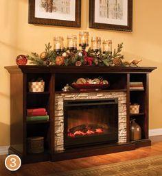 Merrick Tv Console W Electric Fireplace