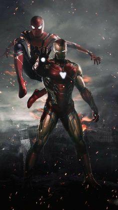 Spiderman and Ironman HD Wallpaper - Avengers Endgame Marvel Dc Comics, Marvel Avengers, Marvel Memes, Captain Marvel, Spiderman Marvel, Marvel Art, Captain America, Iron Man Avengers, Iron Man Spiderman