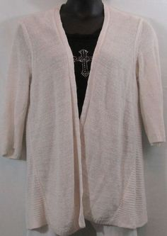 Fashion Bug Plus Size Gray Open Front Cardigan Sweater Size 4x ...