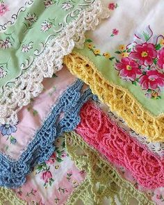 Watch the product review video for the Lace Edgings Crochet Pattern! Design by: Maggie Weldon Skill Level: Intermediate Size: Fits any size handkerchief. Materials: Size 10 Crochet Cotton; Approx 60 y