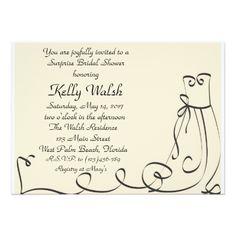 Graceful Elegant Bride Bridal Shower Invitation