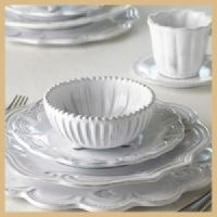 Vietri Incanto white dinnerware brides most popular collection for their registry-simply beautiful!