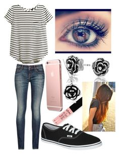"""""""Untitled #141"""" by nicolette-music ❤ liked on Polyvore featuring Armani Jeans, NYX, Journee Collection, Bling Jewelry, H&M and Vans"""