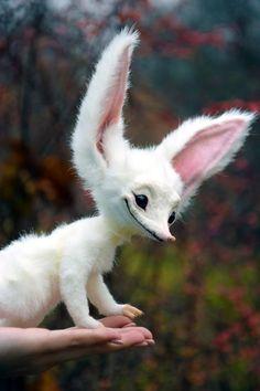 Cute Fantasy Creatures, Mythical Creatures Art, Weird Creatures, Woodland Creatures, Magical Creatures, Felt Animals, Animals And Pets, Cute Animals, Fluffy Animals