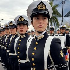 Female Soldier, Military Uniforms, Navy Ships, Navy Women, Soldiers, Chile, Captain Hat, Woman, People
