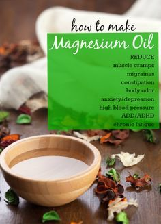 Stinky pits? High blood pressure? It could be a magnesium deficiency.   See how you can resolve these issues and more with this recipe for magnesium oil!  #health #magnesium #hypertension