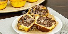 Marmorkuchen-Muffins - Der klassische Marmorkuchen als Low-Carb Variante in fluffige saftige & so köstliche Muffins verpackt. Du wirst diese Muffins lieben