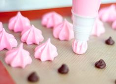 meringue kisses - we make these every Christmas. Usually raspberry