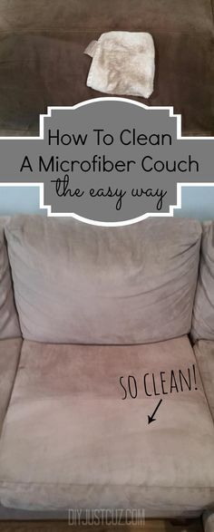 The best thing about a microfiber couch is how easily they can be cleaned. Read tips on easily cleaning water stains on a microfiber couch! /diyjustcuz/