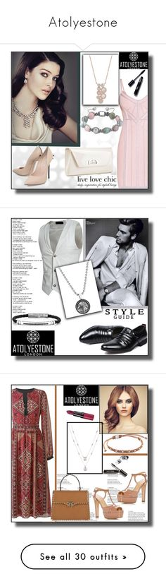 """""""Atolyestone"""" by dzemila-c ❤ liked on Polyvore featuring Hervé Léger, Gatsby, Casadei, Christian Louboutin, Valentino, Sergio Rossi, Bobbi Brown Cosmetics, Rimmel, Lands' End and Stacy Adams"""