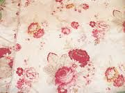 Waverly Norfolk Vintage Rose sheets. Of course, discontinued. I especially love the faded golden yellow background. Got mine at Target.