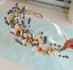 A pretty lavender hair wreath | Something pretty handcrafted… | Flickr