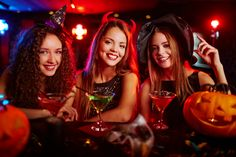 Plan the Spookiest Halloween Bachelorette Party Guide) Halloween Drinks, Spooky Halloween, Spirit Halloween, Halloween Party, Happy Halloween, Bachelor Party Games, Bachelorette Party Food, Newlywed Game Questions, Bridal Shower Questions