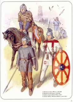 late Roman soldiers ca 4th to early 5th centuries; they could pass for post Roman