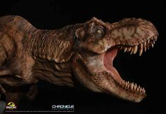 This exclusive and highly detailed scale statue features the female T-Rex as she roars in triumph after setting herself free from her pen as seen in the classic film Jurassic Park. T Rex Jurassic Park, Jurassic Park Series, Jurassic Park World, Amblin Entertainment, Big Cats Art, Beautiful Film, Tiger Art, Dinosaur Art, Prehistoric Creatures