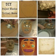 Kids DIY Paper Mache Tribal Mask