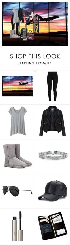 """""""Pack&Go"""" by shiningbrigght ❤ liked on Polyvore featuring Levi's, TravelSmith, Zizzi, UGG, Bling Jewelry, Ray-Ban, Ilia, Royce Leather and plus size clothing"""