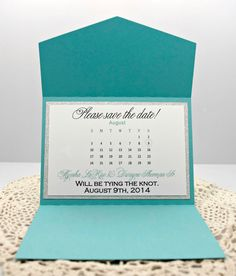 Bling Filled Aqua & Silver Glitter Save The Date Cards for Wedding or Quinceanera/Sweet Sixteen