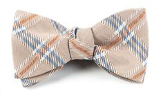 GRAVEL PLAID BOW TIES - CHAMPAGNE | Ties, Bow Ties, and Pocket Squares | The Tie Bar