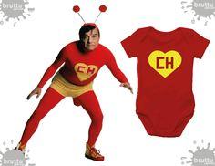 Na BABY BRUTTU você encontra body do Chapolin, Capitão América, Batman, Robin e outros super-heróis.