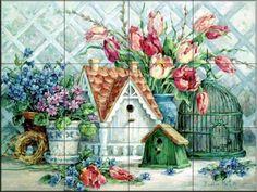 Quaint Little Neighborhood - BM - Tile Mural
