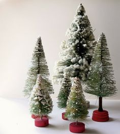 My Friday Fave Pins | Christmas trees, Glitter and Bottle brush trees