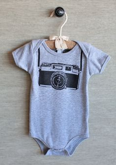 For my 2 preggo photographer friends!   Future Photographer Onesie In Gray | Modern Vintage New Arrivals