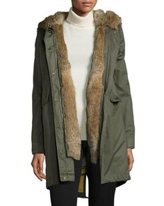 Literary Walk Fur-Lined Hooded Parka  by Woolrich at Neiman Marcus.