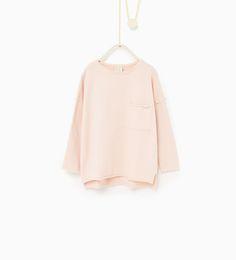 Ripped sweatshirt-SWEATSHIRTS-Girl-Kids | 4-14 years-KIDS | ZARA United States