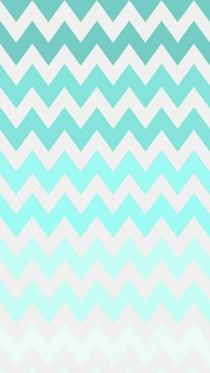 turquoise ombre chevron wallpaper ♥