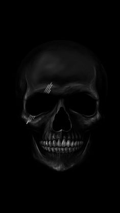 ↑↑TAP AND GET THE FREE APP! Art Creative Black White Skull HD iPhone Wallpaper
