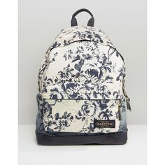 Eastpak House of Hackney Dalston Rose Print Backpack (190 AUD) ❤ liked on Polyvore featuring bags, backpacks, wyoming dalston rose, eastpak bags, print backpacks, padded backpack, pattern bag and eastpak backpack