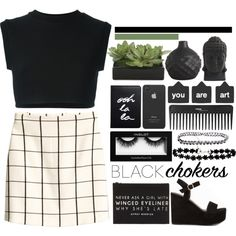 How To Wear [Black Chokers} Outfit Idea 2017 - Fashion Trends Ready To Wear For Plus Size, Curvy Women Over 20, 30, 40, 50