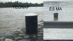 Duna, áradás,  2013 nyár, egyik napról másik napra