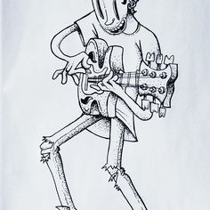 #guitarist #sketch #pensketch #rocknroll #bew #blackandwhite #playingguitar #drawing #smile #music #inspiration #guitar #illustration