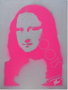 tableau design pop portrait la joconde mona lisa ROSE FLUO Andy Warhol Marilyn, Andy Warhol Pop Art, Mona Friends, Graffiti, Street Art, Mona Lisa Parody, Tableau Design, More Wallpaper, Pop Design