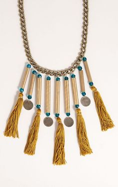 The Milanna Necklace from Planet Blue is Hand-Crafted #jewelry trendhunter.com