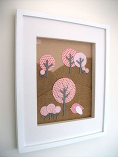 Fabric Art. Use leftover fabric from baby's nursery project?