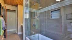 Eicher bathroom with glass tile accent