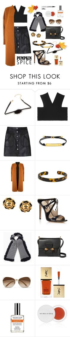 """""""Coffee Date"""" by brigitta-ruth on Polyvore featuring Valentino, Carven, BaubleBar, Warehouse, Chanel, Alejandro Ingelmo, Max&Co., Alexander McQueen, Victoria Beckham and Yves Saint Laurent"""