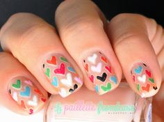 #nail #nails #nailart #heart #lapaillettefrondeuse