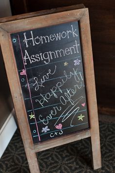 Greet guests with a simple assignment
