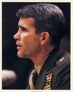 Oliver North * Lt. Colonel who was at the center of the Iran-Contra Scandal. If this guys did what they say he did....Jesus...what a maniac.