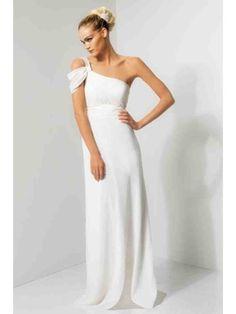 Modest One Shoulder Long White Bridesmaid Dresses Wedding Guest Dresses 501031 Wedding Dress 2013, Used Wedding Dresses, Wedding Dress Sizes, White Bridesmaid Dresses Long, Strapless Dress Formal, Prom Dresses, Long Dresses, Summer Dresses, Bridal Gowns