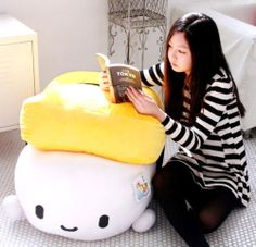 """there will never be a good reason to need this but ahhhh the cuteness.. Sushi 28"""" Egg Super Size Plush Throw Pillow Cushion Doll Toy Bedding Cute Kawaii   eBay"""
