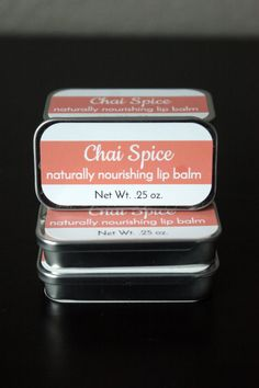 Hey, I found this really awesome Etsy listing at https://www.etsy.com/listing/290899339/natural-chai-spice-flavored-lip-balm